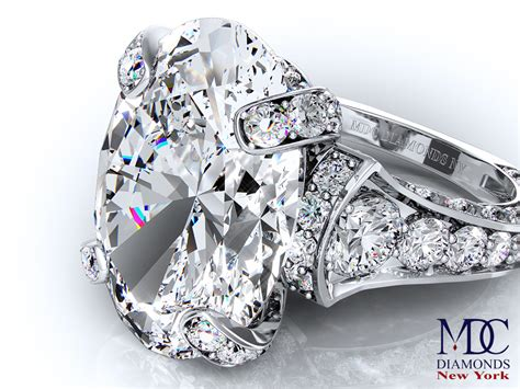 engagement ring large oval cathedral graduated