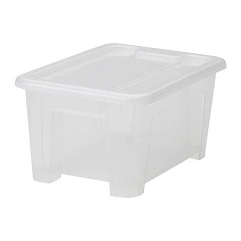 plastikboxen mit deckel samla box mit deckel transparent 28x20x14 cm 5 l ikea