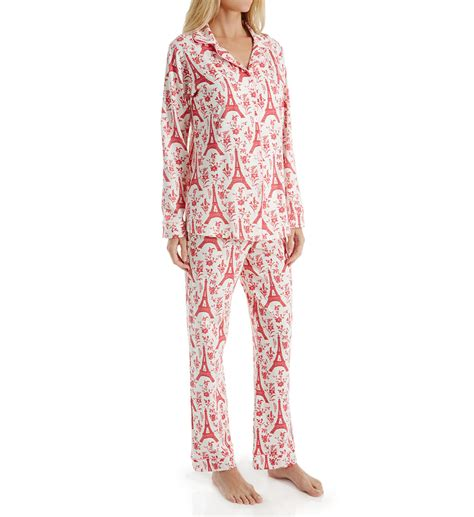 bed head pajamas bedhead pajamas poinsetta eiffel long sleeve pj set 2996