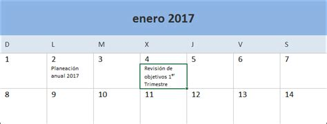 Calendario 2017 Para Escribir Descarga El Calendario 2017 En Excel Excel Total