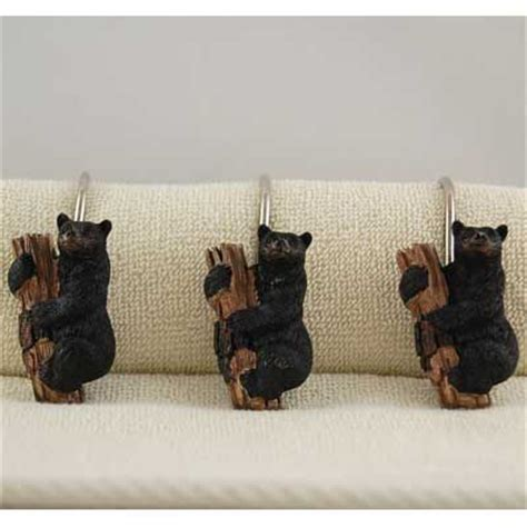black bear curtains these black bear cubs will love hanging from your shower