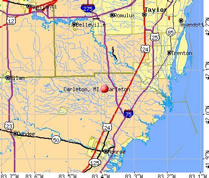 carleton, michigan (mi 48117) profile: population, maps