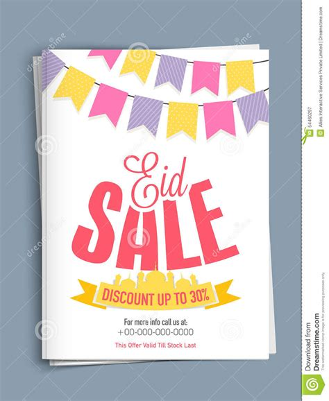 creative template or flyer design for eid sale stock