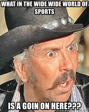 Blazing Saddles Meme - what in the wide wide world of sports is a goin on here