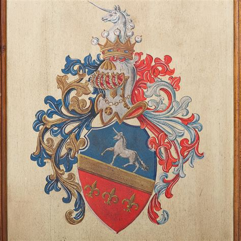 Coat Of Arms Decorations by Heraldry Painting Of A Coat Of Arms On Board At 1stdibs