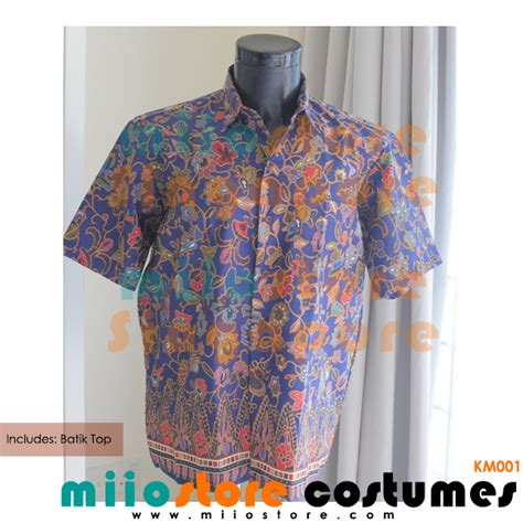 Preloved Blouse Aksen Batik Ukuran L rent singapore batik shirt costume peranakan