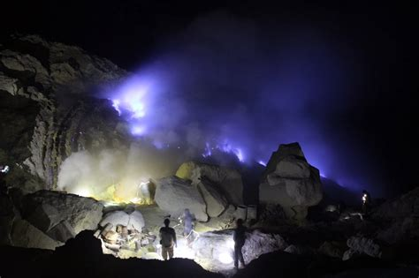 Ijen Crater Blue Fire East Java,Indonesia ? Mount Bromo