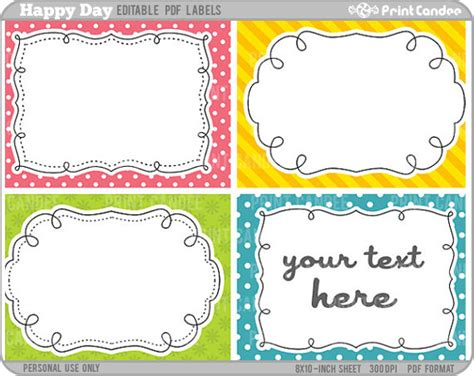 free classroom picture card templates printable 5 best images of free editable printable labels templates