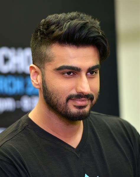 frontlook of arjun kapoor with his new hair cut raymond seconds shop wishes arjun kapoor happiness