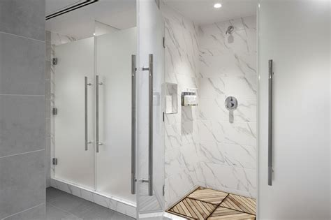S Locker Room Shower by Equinox Pricey But Will Get You Fit
