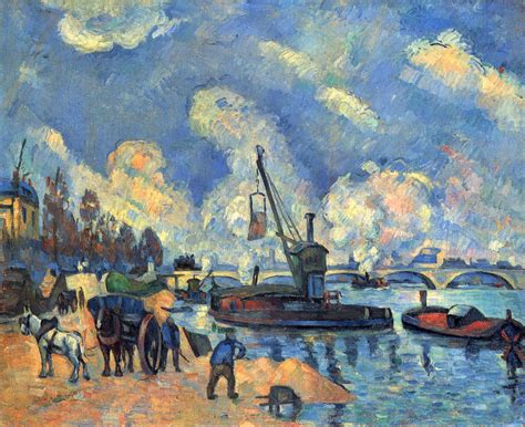 painting work the seine at bercy paul cezanne wikiart org