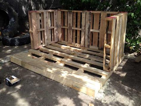 build outdoor with pallets diy outdoor tiny pallet playhouse