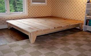 Platform Bed Frame King Diy How To Build A Platform Bed Frame