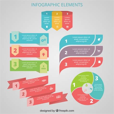 infographic design elements in vector colorful infographic elements vector free download