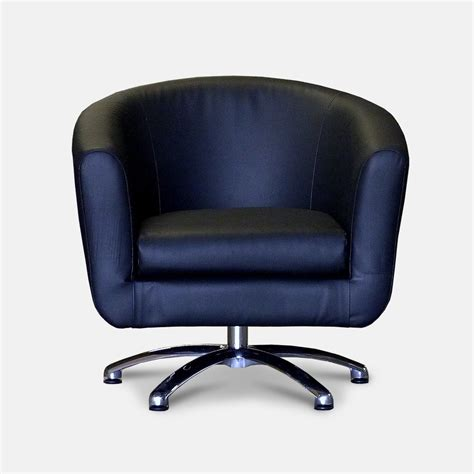 95 Black Leather Swivel Chair Theva Leather Swivel Tub Swivel Chair