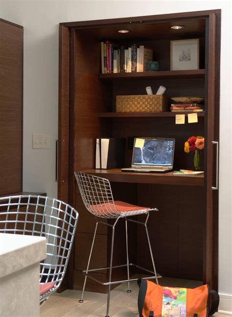 Home Office Closet by Small Apartment Design Idea Create A Home Office In A