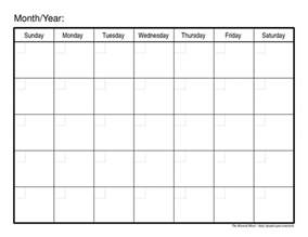 Monthly Calendar Schedule Template by Monthly Schedule Template Cyberuse