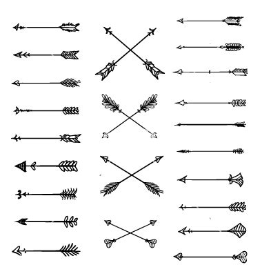 aztec arrow tattoo arrow clipart white background aztec arrows vector by