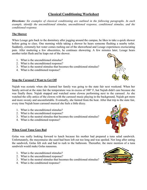 Stimulus And Response Worksheet Answers by Classical Conditioning Worksheet