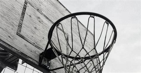 grayscale photography  basketball hoop  stock photo