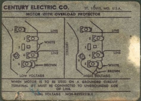 century motors century electric motor wiring diagram fuse box and