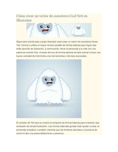 illustrator tutorial yeti c 243 mo crear un vector de caracteres cool yeti en illustrator