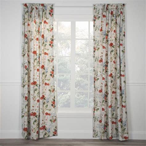 botanical curtains botanical floral curtain panel
