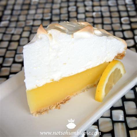 not so humble pie lemon meringue pie