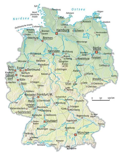 germany maps map of germany with cities free printable maps