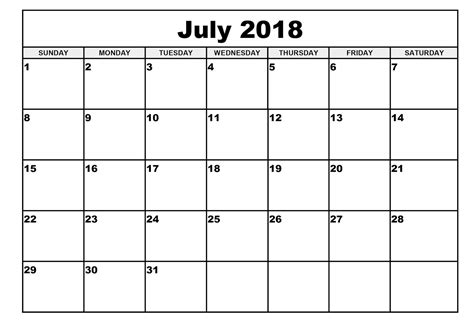 printable calendar july 2018 july 2018 calendar printable word yspages com