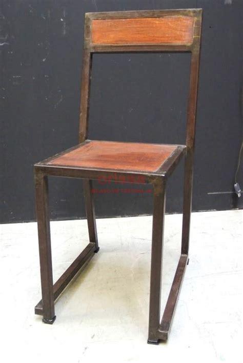 sedia in ferro sedia ferro e legno f9037 orissa