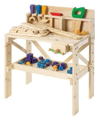kids wooden tool bench homemade bookshelf designs discovery toys wooden workbench