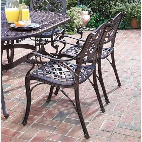 Outdoor Dining Sets Metal 7 Metal Patio Dining Set In Bronze 5555 3358