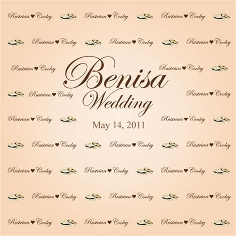 Wedding Backdrop With Names by Wedding Themes And Designs Step And Repeat La