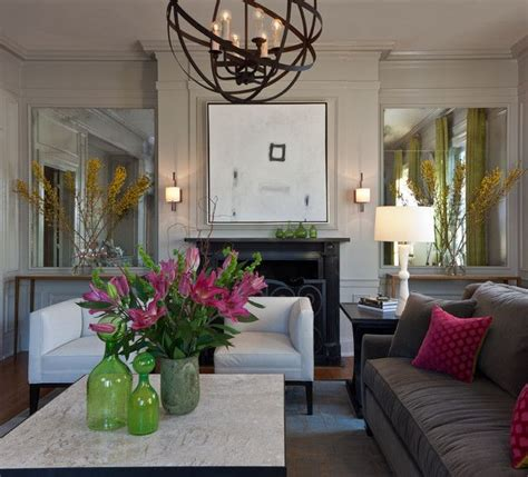 Living Room And Family Room Side By Side 17 Best Images About Mirrors Either Side Of Fireplace On