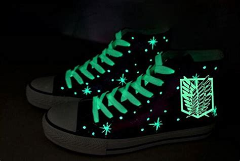 Attack On Titan Shingeki No Kyojin Canvas Black Jaket Anime attack on titan shingeki no kyojin wings of freedom shoes canvas shoes sneakers luminous
