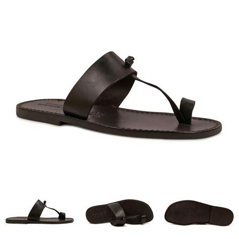 black mens sandals handmade black genuine leather sandals for mens made
