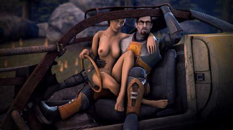 Alyx Vance Gordon Freeman Half Life Gmod Source Filmmaker Half Life Video Games