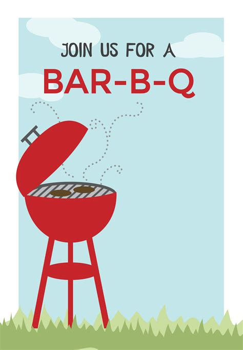bbq invitation template bbq cookout free printable bbq invitation template
