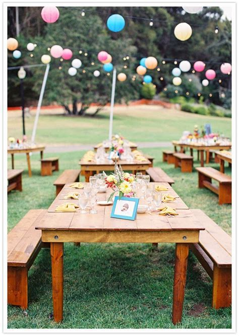 On Picnic Wedding Ideas   Elegant Table Decorations