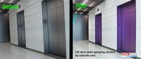 spray paint doors lift door paint spraying service by ceilcote