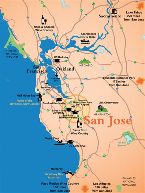 san jose map san jose ca official website maps