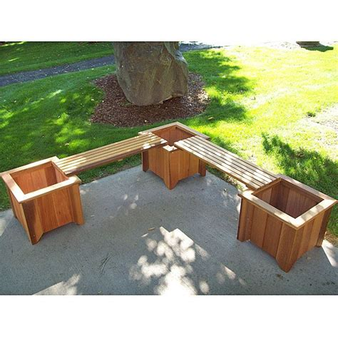 Deck Planter Bench by 25 Best Ideas About Planter Bench On Garden