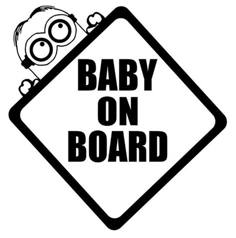 Stiker Cutting Baby On Board minion baby on board die cut vinyl decal pv145
