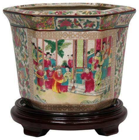 10 Inch Ceramic Flower Pots - 10 quot medallion porcelain flower pot traditional