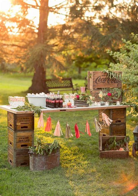 Backyard Wedding Drink Ideas Unique Wedding Beverage Station Ideas The I Do Moment
