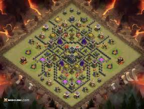 Th9 spider war base th9 clash of clans clan war base layout