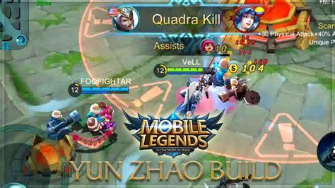tutorial mobile legend zilong mobile legends zilong unstoppable build youtube