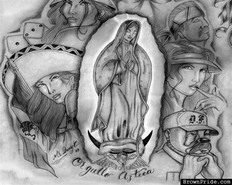 Imagenes Aztecas Cholas | tropicalizer virgen de guadalupe cholo art