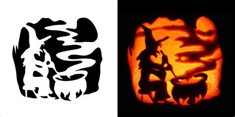 printable pumpkin stencils witch 5 best halloween scary pumpkin carving stencils 2013